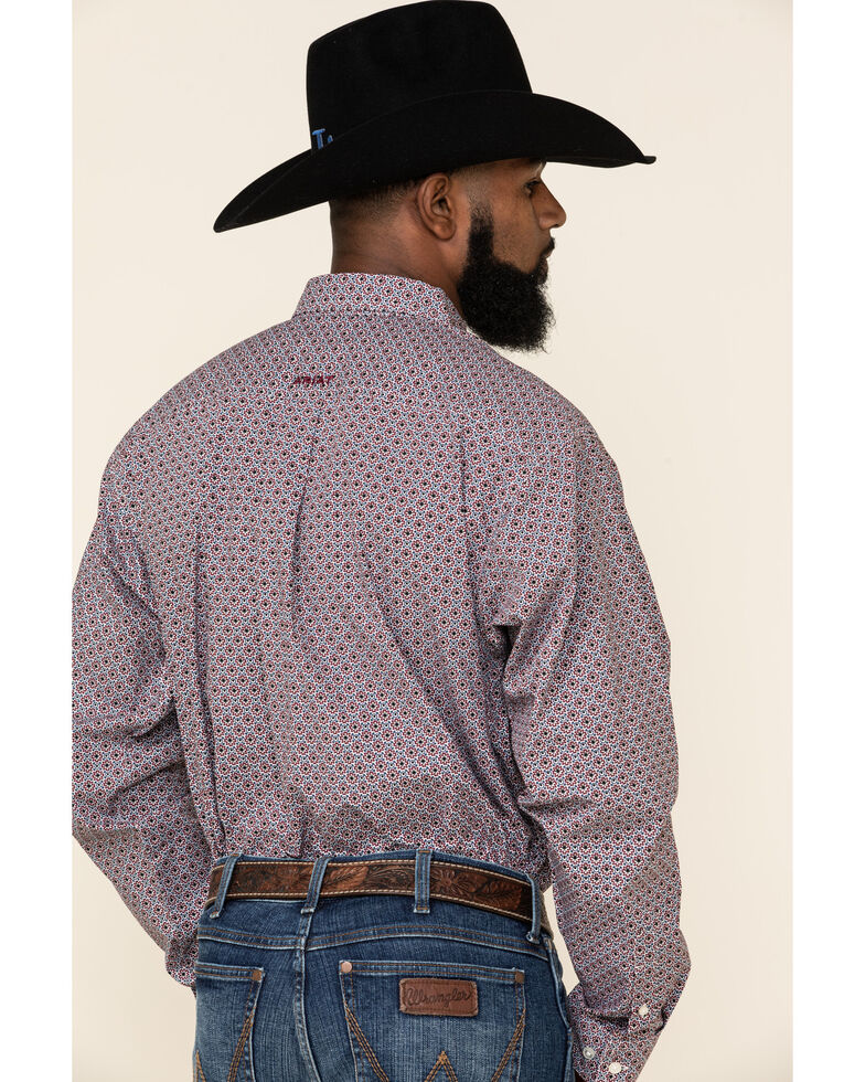 Ariat Men's Ramsdale Floral Geo Print Long Sleeve Button-Down Western Shirt - Tall , Multi, hi-res