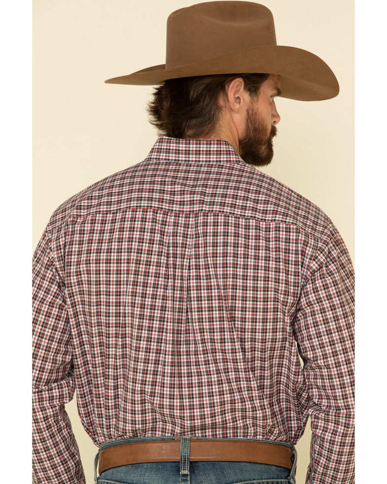 Cinch Men's Multi Small Plaid Plain Weave Long Sleeve Western Shirt , Multi, hi-res