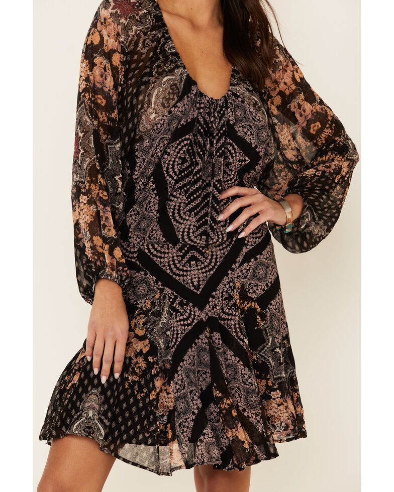 Free People Women's Seven Wonders Mini Dress, Black, hi-res