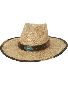 Bullhide Women's Natural No Rules Straw Hat , Natural, hi-res