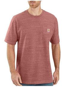 Carhartt Men's Solid Heavyweight Short Sleeve Work Pocket T-Shirt - Big & Tall, Heather Red, hi-res