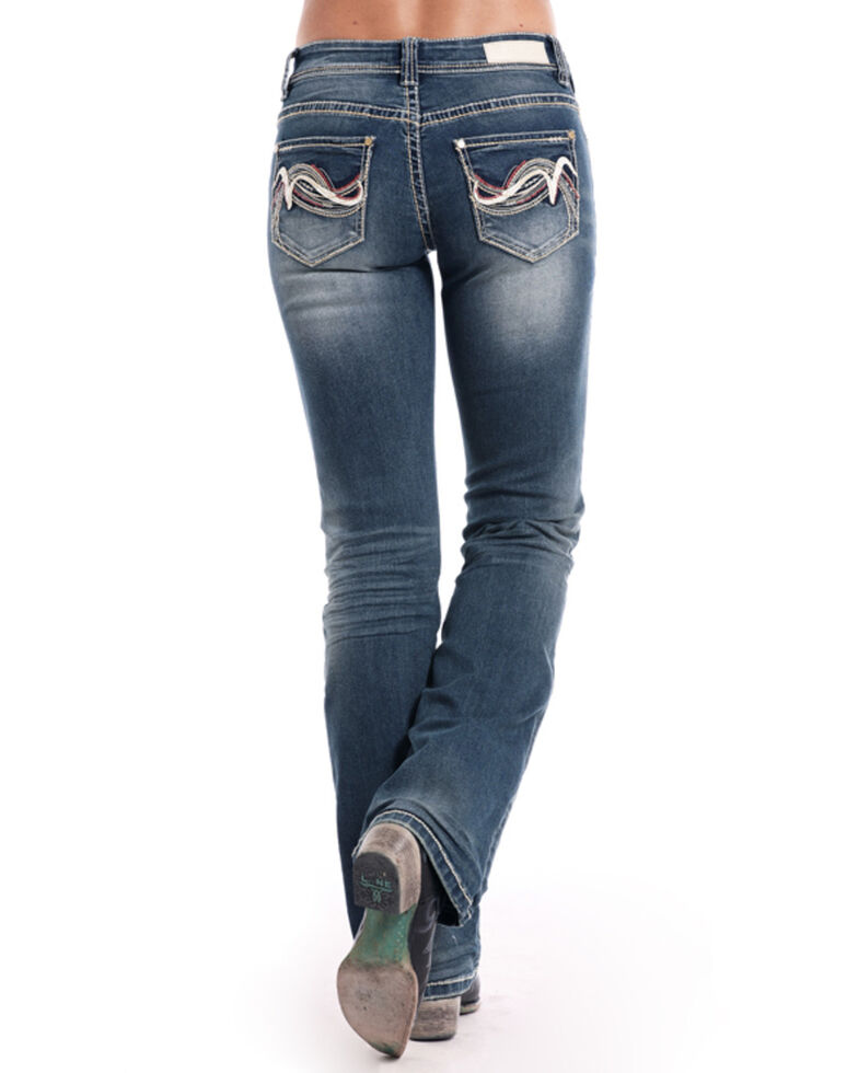 Rock & Roll Cowgirl Women's Medium Vintage Riding Bootcut Jeans , Blue, hi-res