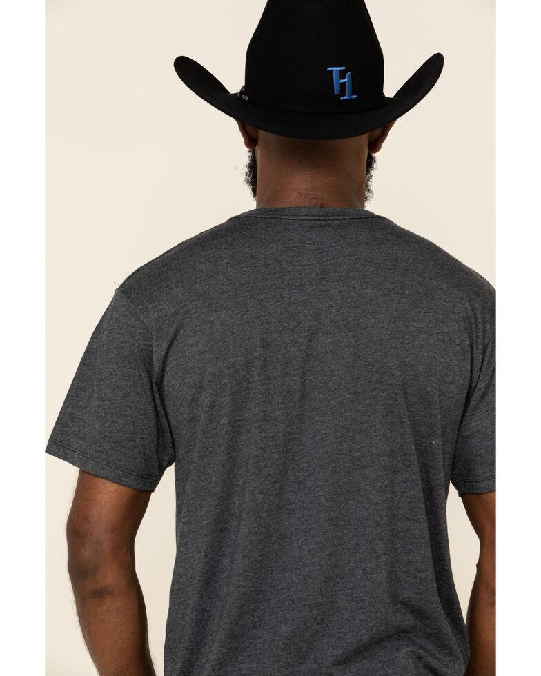 HOOey Men's Charcoal Roughy Logo Tee , Charcoal, hi-res