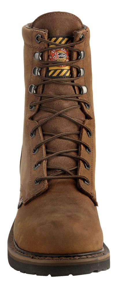 "Justin Men's Drywall Waterproof 8"" Work Boots - Soft Toe, Brown, hi-res"