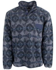 STS Ranchwear Men's Indigo Unisex Aztec Fleece Sweatshirt , Indigo, hi-res