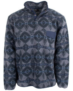 STS Ranchwear Men's Indigo Unisex Aztec Fleece Sweatshirt - Big , Indigo, hi-res