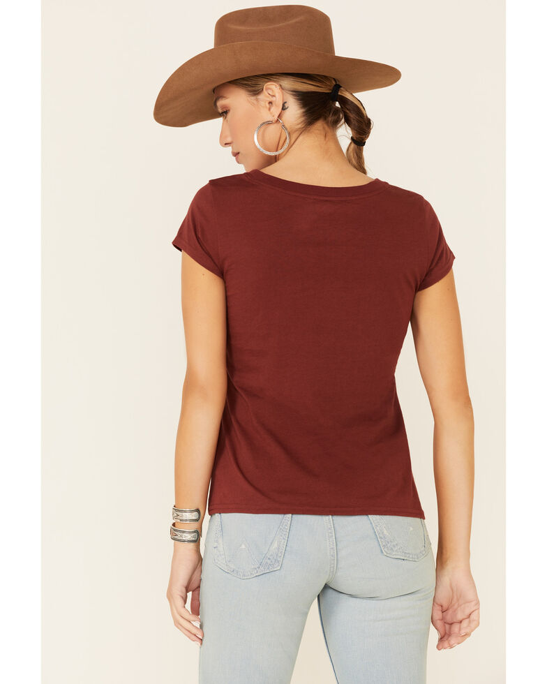Shyanne Life Women's Chocolate Brown Go West Graphic Short Sleeve Tee , Chocolate, hi-res