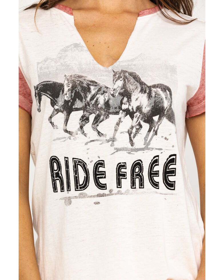 Shyanne Life Women's Cream Ride Free Raglan Tee, Rust Copper, hi-res