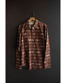 Stetson Men's Original Rugged Aztec Serape Print Long Sleeve Western Shirt , Brown, hi-res
