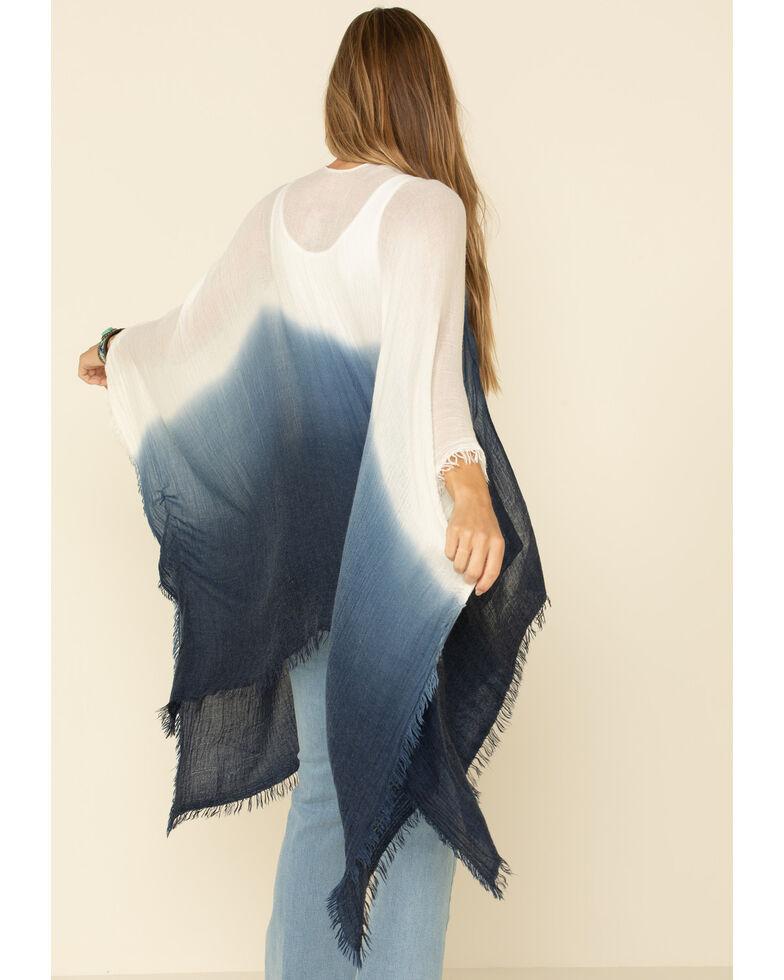 Shyanne Women's Ombre Pocket Shawl  , White, hi-res