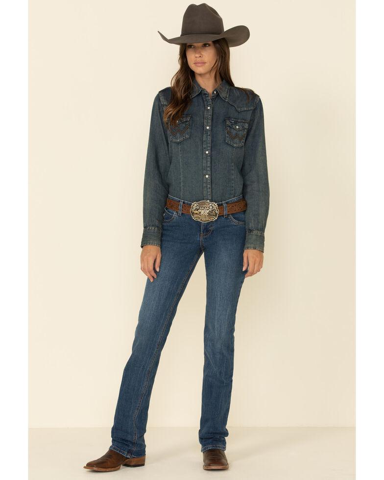 Wrangler Women's Eliza Bootcut Jeans, Blue, hi-res