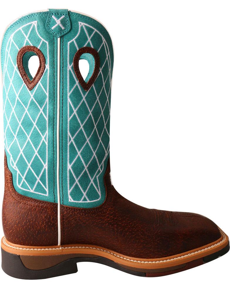 Twisted X Men's Lite Cowboy Work Boots - Soft Toe, Brown, hi-res
