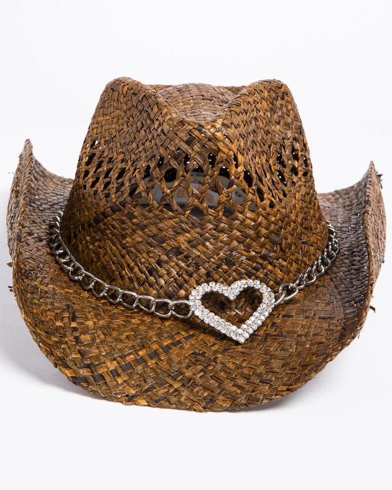 Shyanne Women's Dark Heart Cowgirl Hat, Brown, hi-res