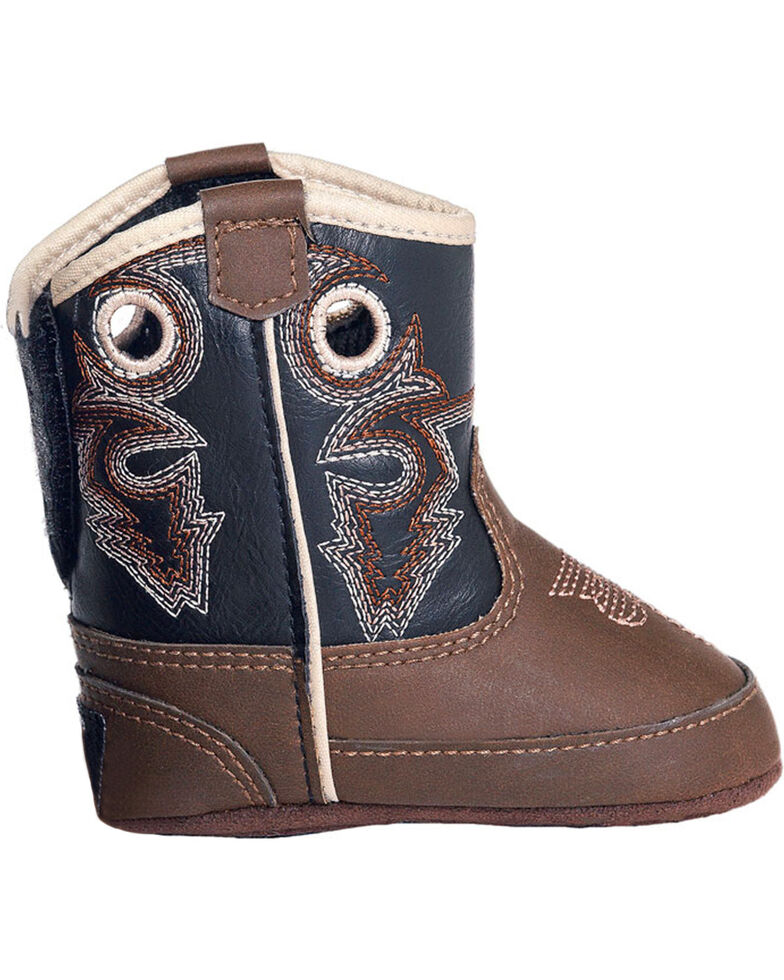 Double Barrel Infant Boys' Trace Baby Bucker Boots - Round Toe, Brown, hi-res