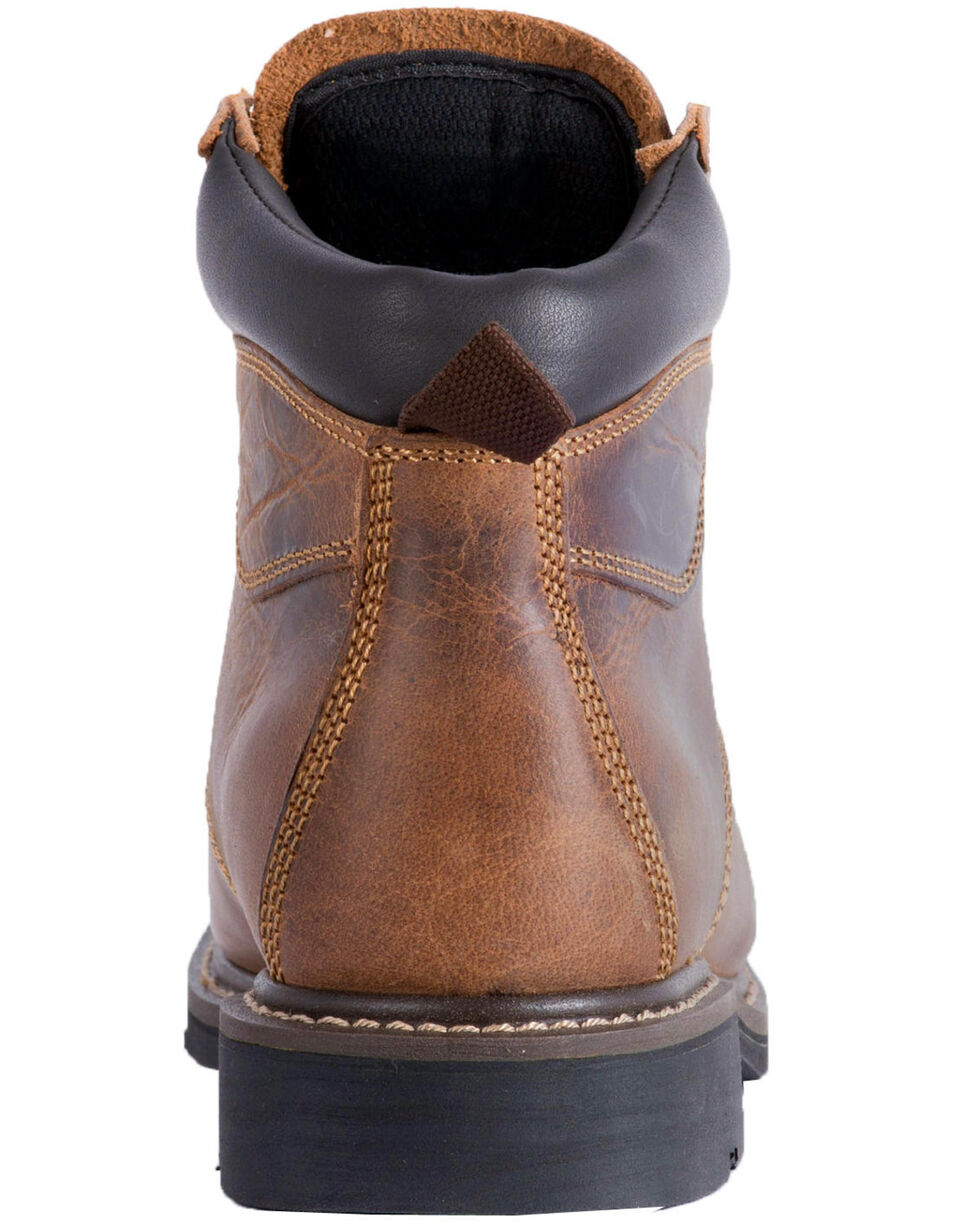 """McRae Men's 6"""" Lace-Up Work Boots - Round Toe, Brown, hi-res"""