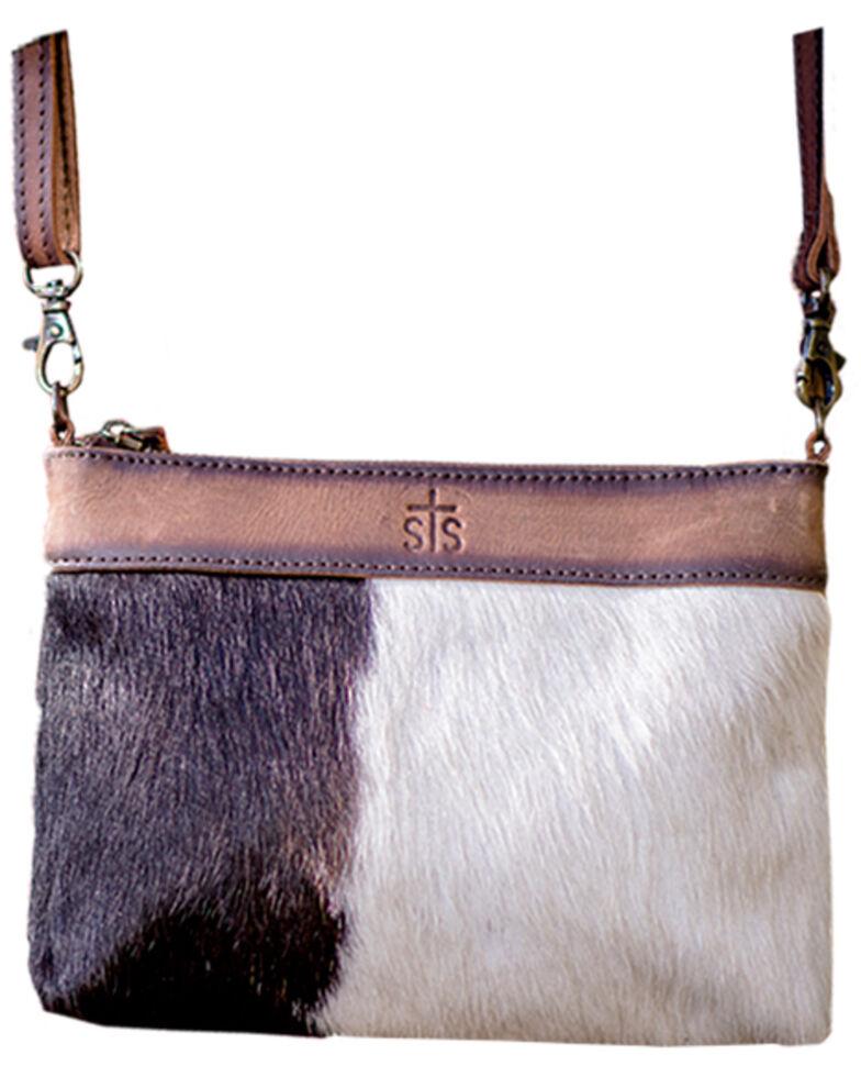 STS Ranchwear Women's Cowhide Grace Crossbody Bag, Brown, hi-res