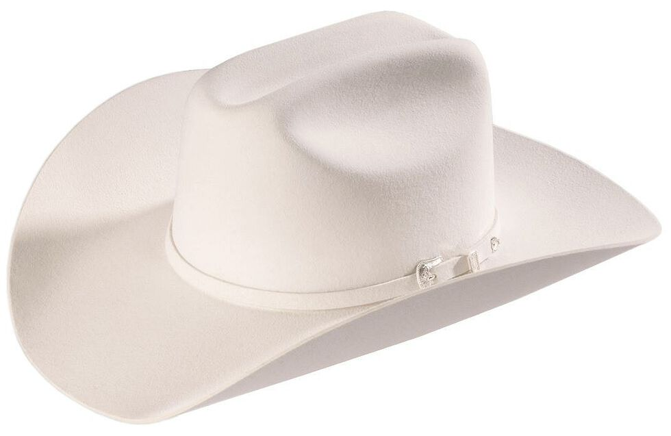 Resistol 2X Pageant Wool Felt Cowboy Hat, White, hi-res