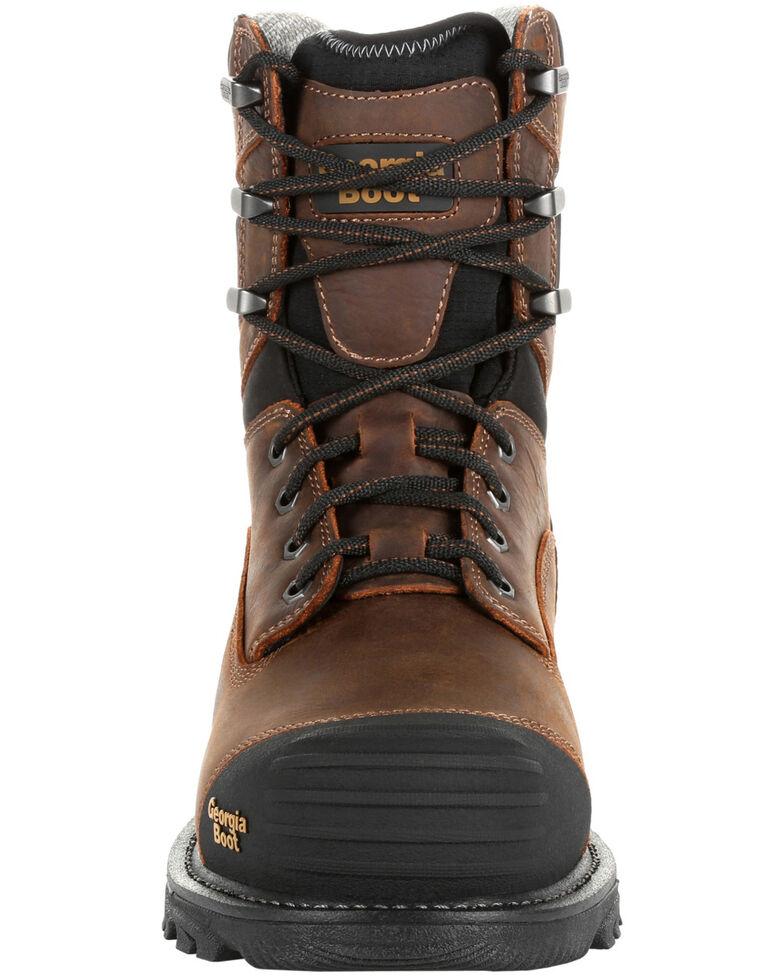 Georgia Boot Men's Rumbler Waterproof Work Boots - Composite Toe, Black/brown, hi-res