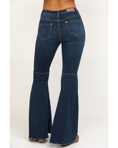 Rock & Roll Cowgirl Women's Dark High Rise Bell Bottom Jeans , Blue, hi-res