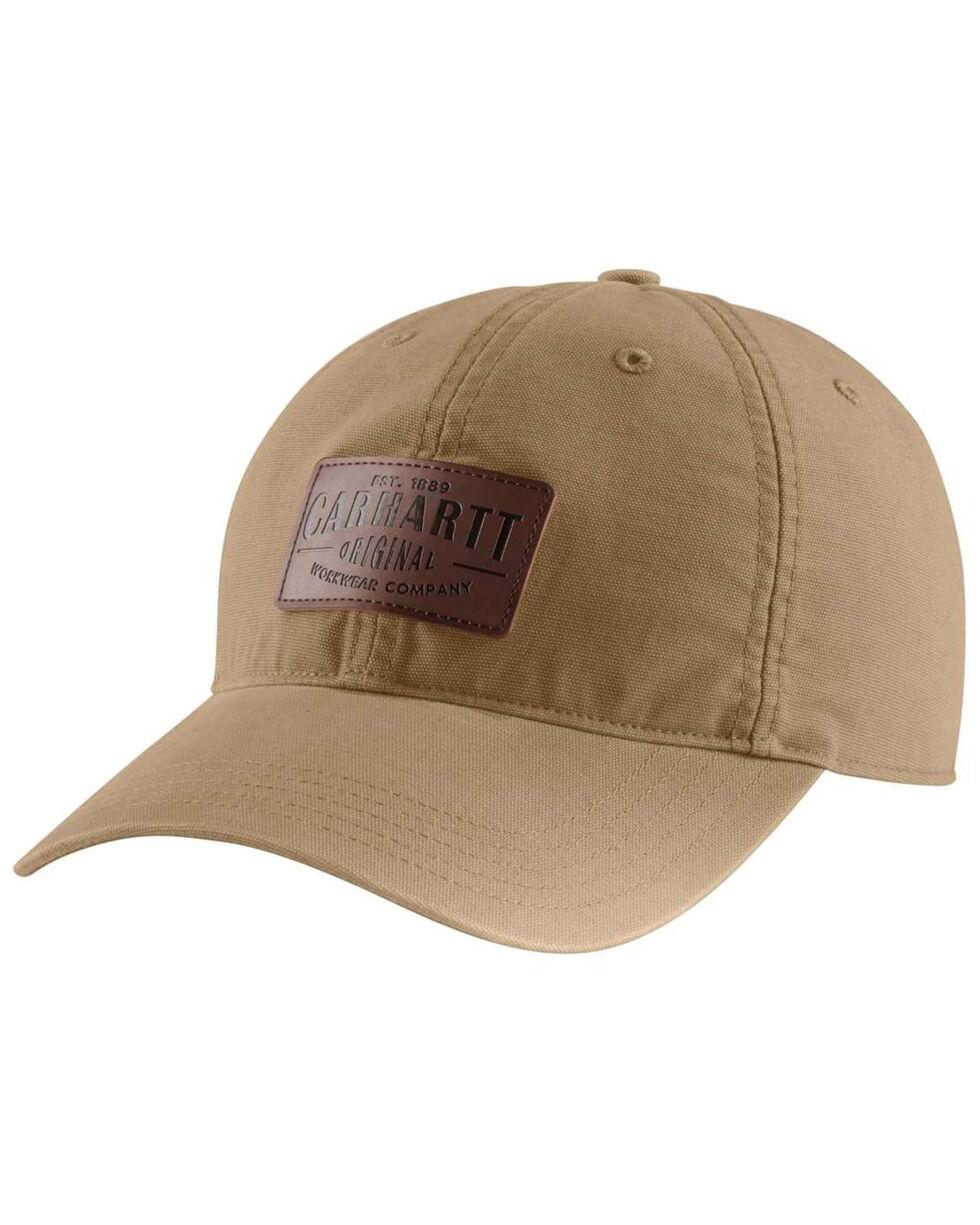 Carhartt Men's Rigby Leatherette Patch Stretch Cap, Beige/khaki, hi-res