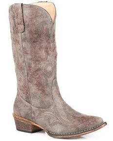 Roper Women's Riley Western Boots - Snip Toe, Grey, hi-res