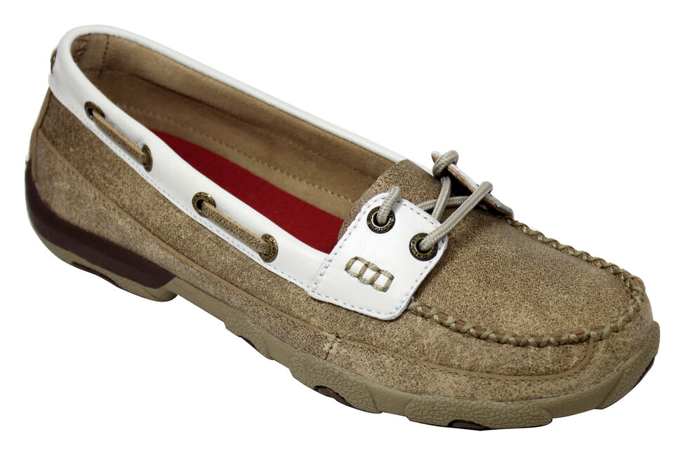aa171850f91 Twisted X Women s Tan and White Driving Mocs - Country Outfitter