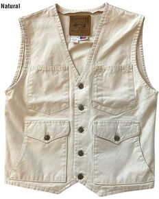 Schaefer Outfitter Men's Natural Vintage Mesquite Vest - 2XL, Natural, hi-res