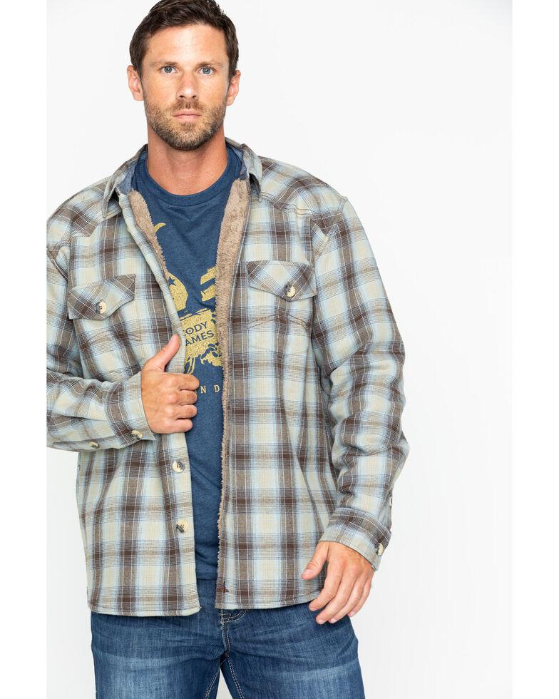 17ef5a314e Cody James Men s Plaid Long Sleeve Ojai Bonded Flannel Shirt Jacket ...