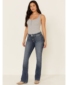 Ariat Women's Nautalis Bootcut Jeans, Blue, hi-res