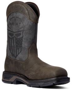 Ariat Men's Incognito Workhog Western Work Boots - Composite Toe, Brown, hi-res
