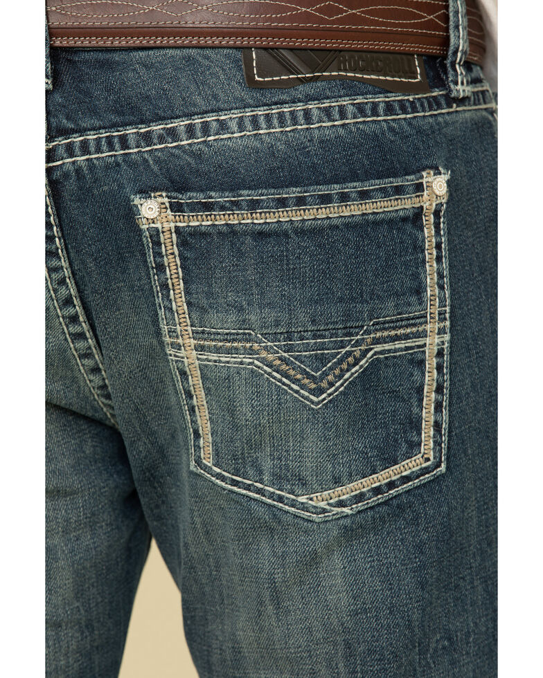 Rock & Roll Denim Men's Pistol Dark Vintage Regular Straight Jeans , Blue, hi-res