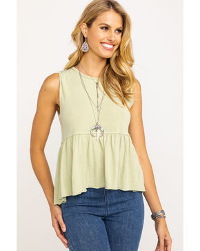 Free People Women's Anytime Tank, Light Green, hi-res