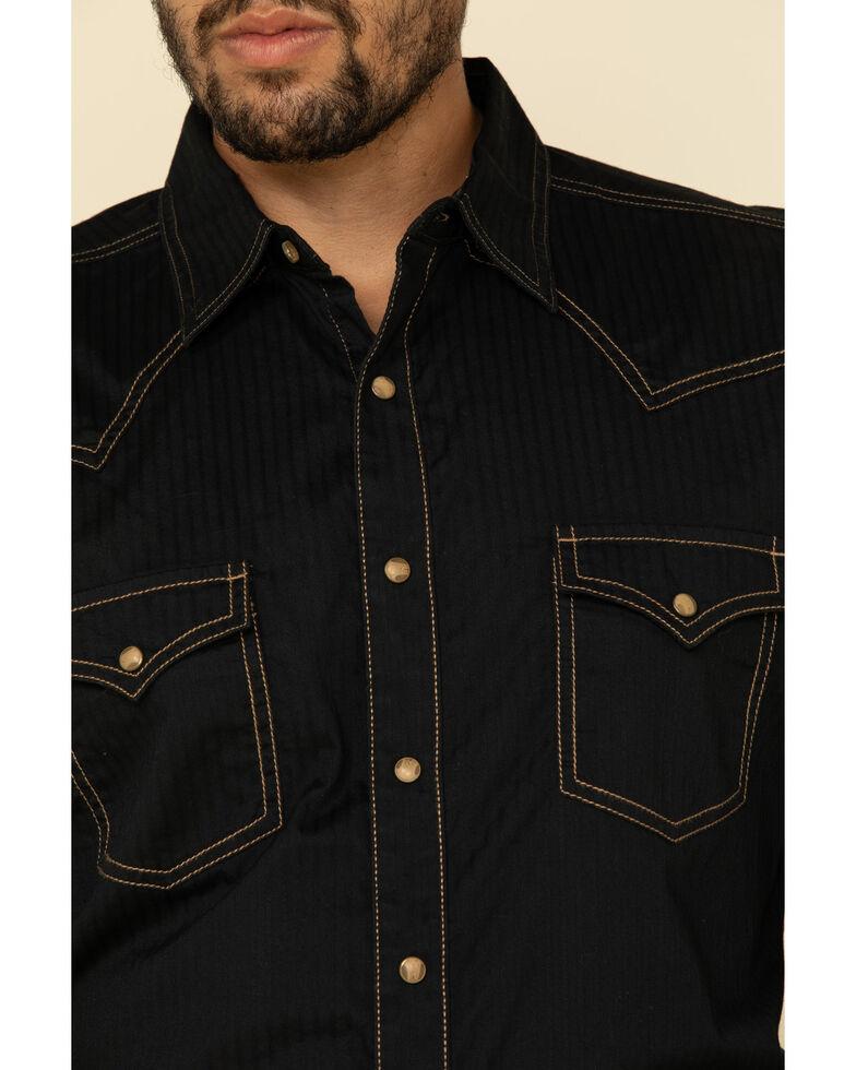 Wrangler Retro Premium Men's Black Solid Long Sleeve Western Shirt , Black, hi-res