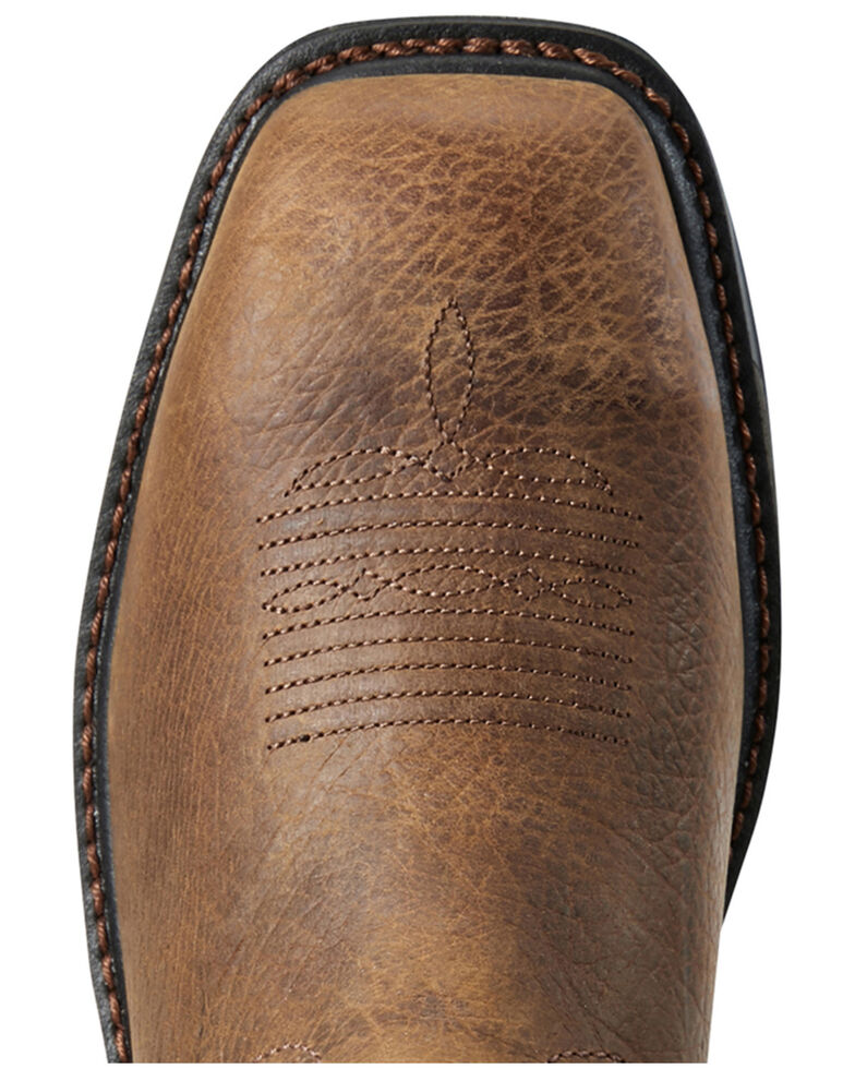 Ariat Men's Brown Coil Workhog Western Work Boots - Composite Toe, Brown, hi-res