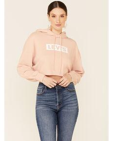 Levi's Women's Pink Logo Pullover Crop Hoodie , Pink, hi-res