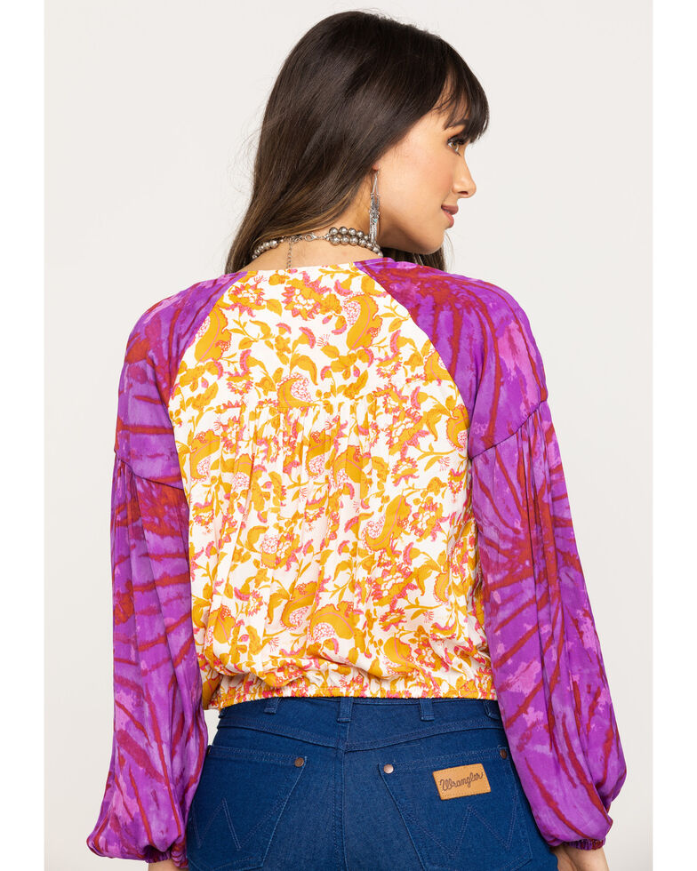 Free People Women's Cruising Together Printed Top, Red, hi-res