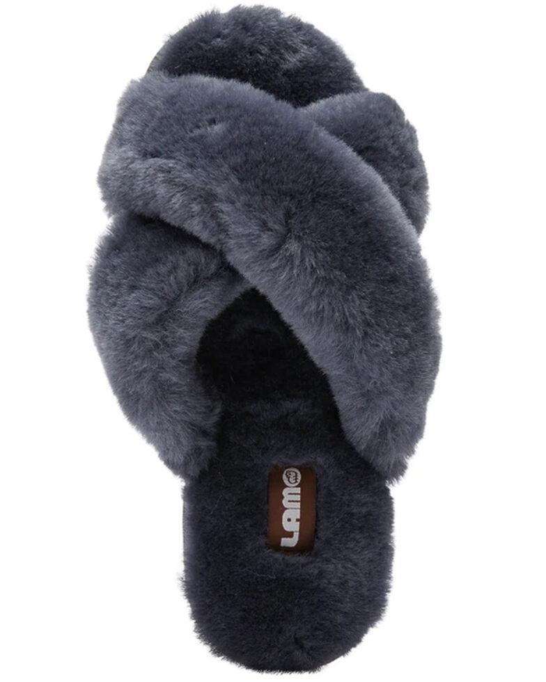 Lamo Footwear Women's Serenity Sheepskin Sandals, Grey, hi-res