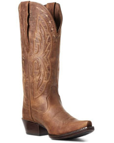 Ariat Women's Heritage Brown Western Boots - Snip Toe, Brown, hi-res