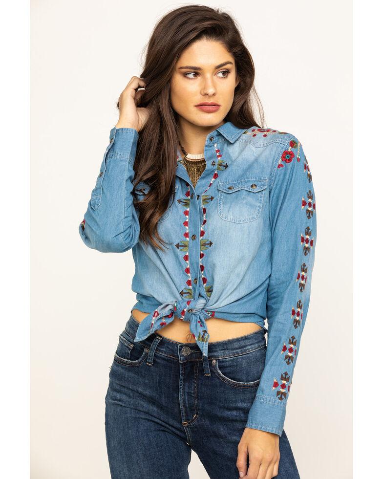 Tasha Polizzi Women's Yei Indigo Shirt, Blue, hi-res