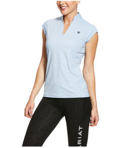 Ariat Women's Cashmere Blue Cambria Cap Sleeve Baselayer, Blue, hi-res