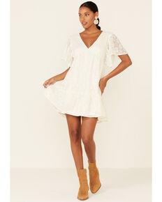Flying Tomato Women's Cream Lace Dress, Cream, hi-res