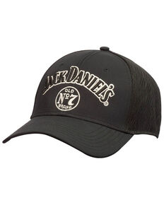 Jack Daniels Men's Black Logo Performance Mesh Ball Cap , Black, hi-res