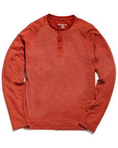 United By Blue Men's Auburn Eco Knit Thermal Henley Long Sleeve Shirt , Orange, hi-res