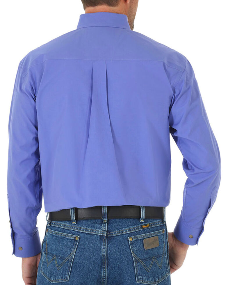 George Strait by Wrangler Men's Purple Solid Long Sleeve Western Shirt , Purple, hi-res