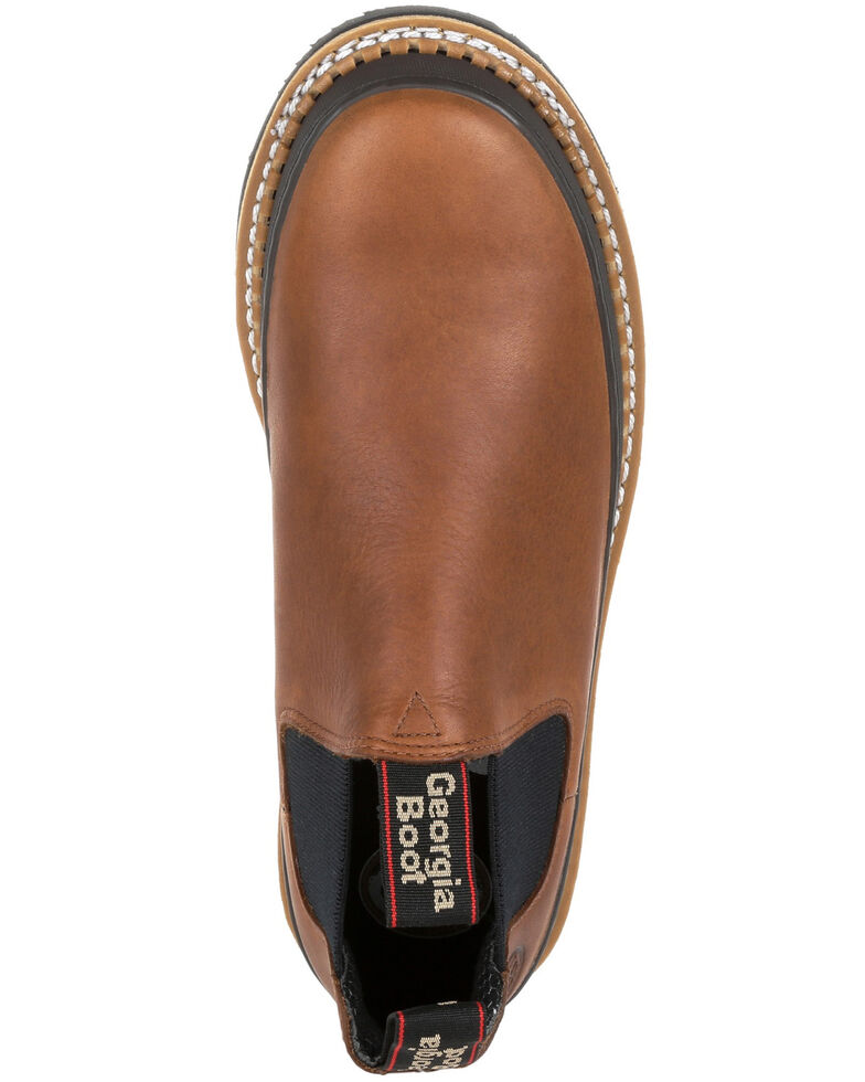 Georgia Boot Men's Revamp Romeo Work Shoes - Soft Toe, Brown, hi-res