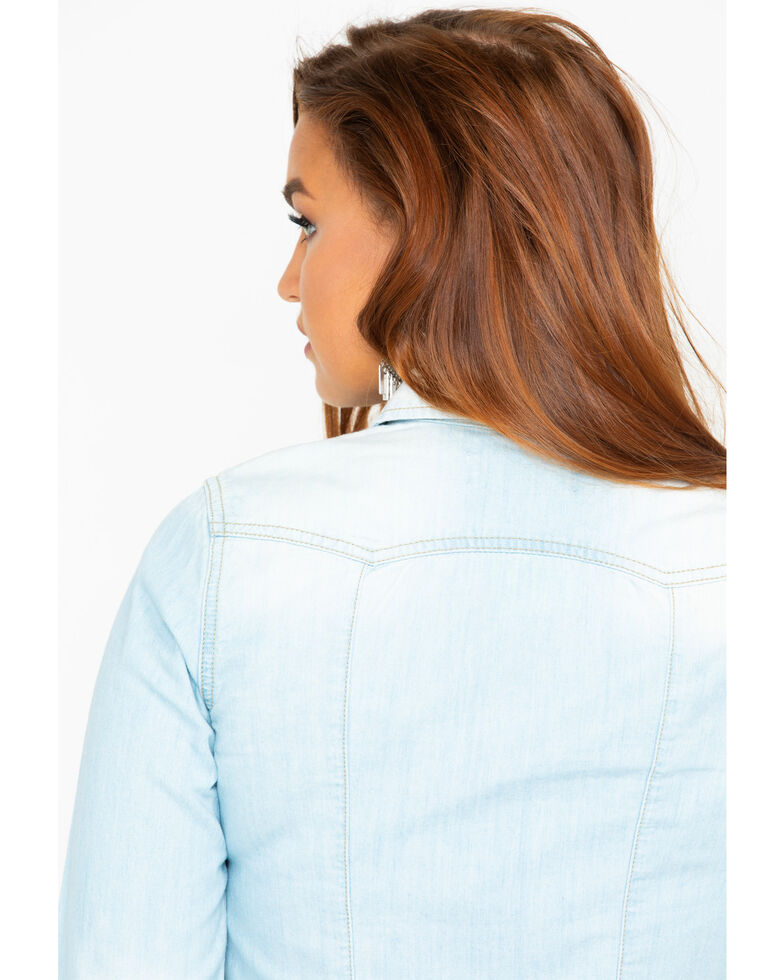 Idyllwind Women's Shacket Jacket , Blue, hi-res