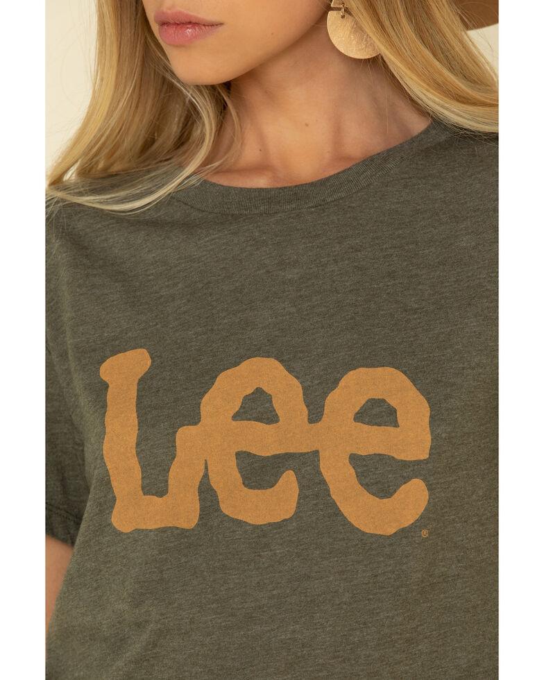 Lee Women's Olive Lee Logo Graphic Tee, Olive, hi-res