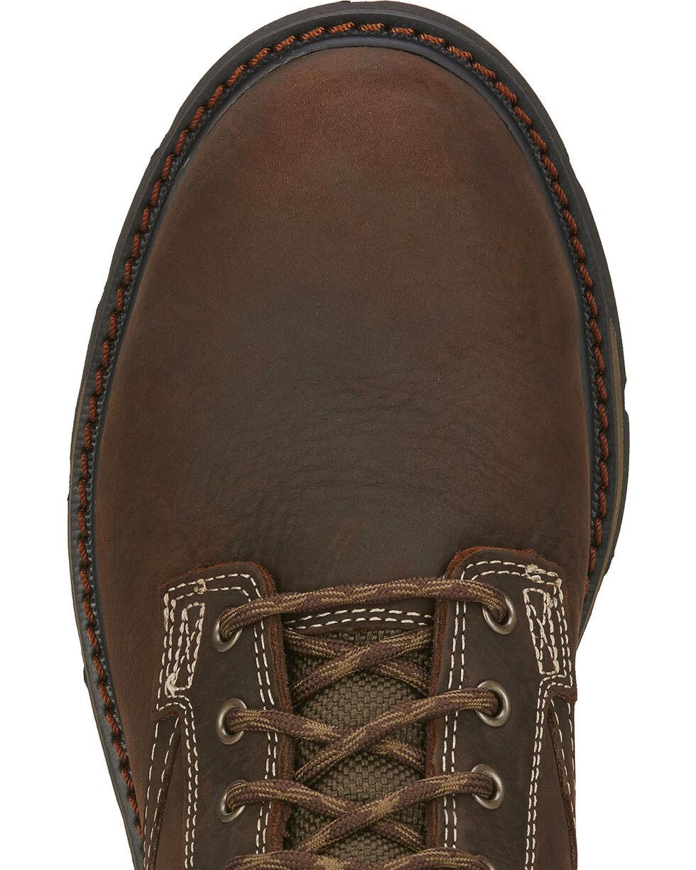 """Ariat Men's 8"""" Groundbreaker Waterproof Work Boots - Steel Toe, Dark Brown, hi-res"""