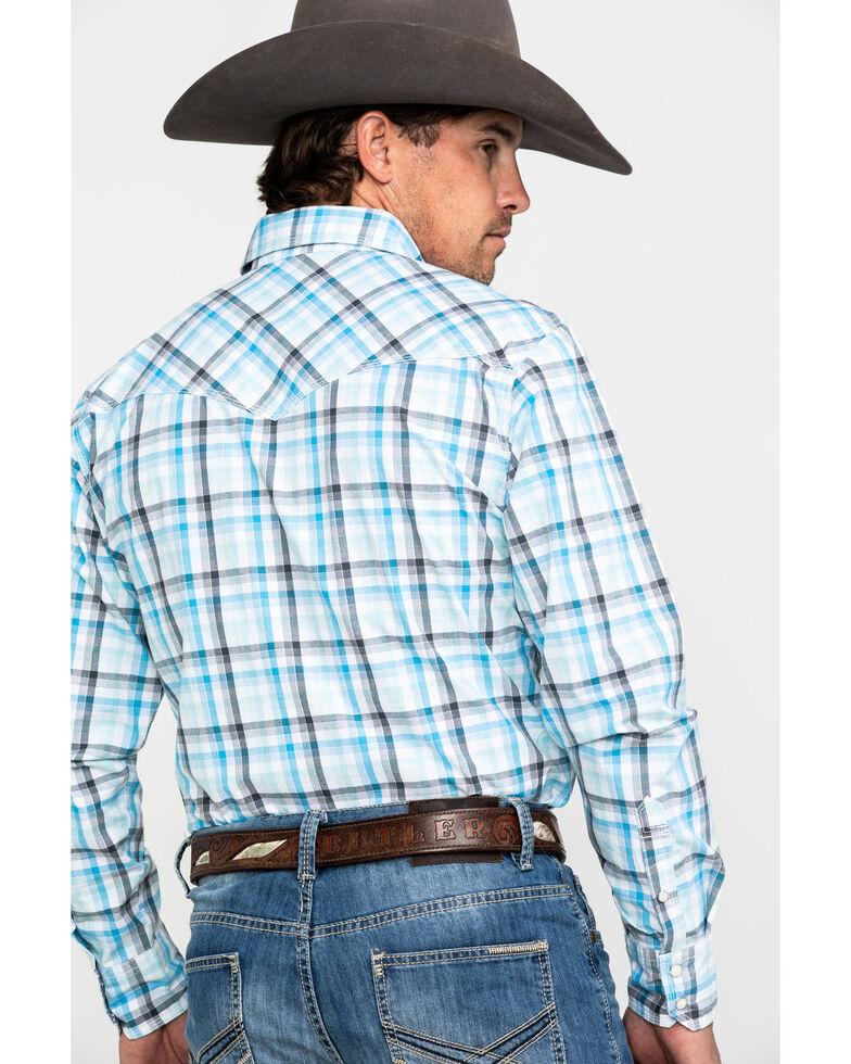 Wrangler 20X Men's Advanced Comfort White Plaid Long Sleeve Western Shirt , White, hi-res