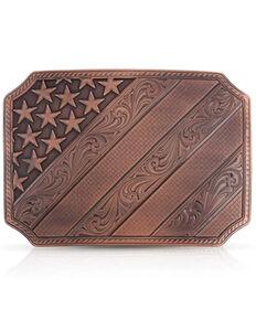 Montana Silversmiths Women's Born In The USA Bronze Belt Buckle, Bronze, hi-res